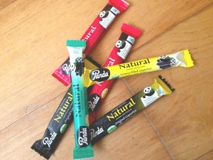 Photo of the Panda Liquorice packaging – self improvement tips.