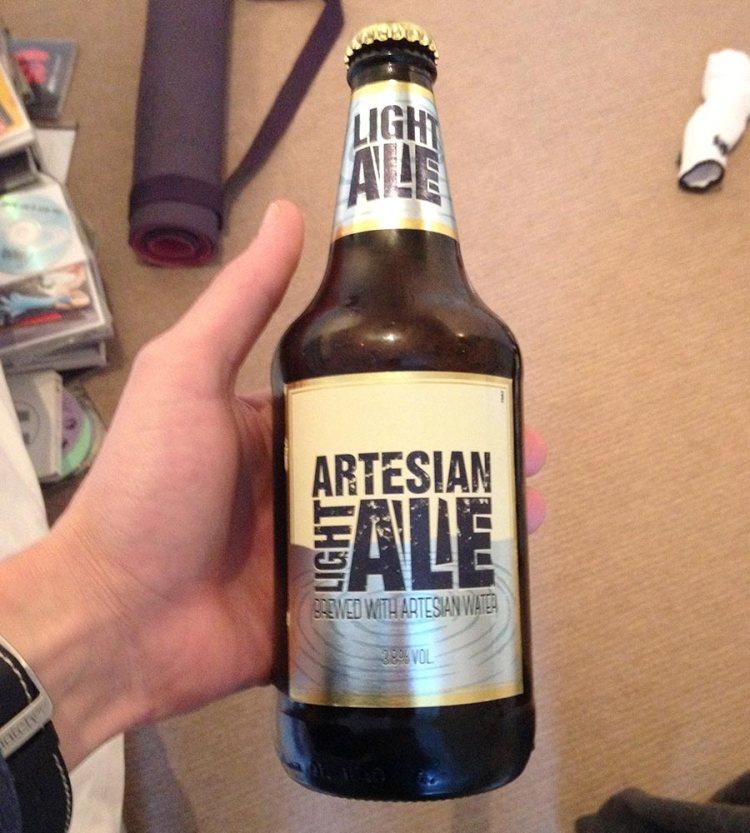 Photo of beer label design.