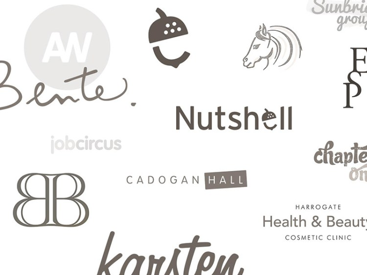 Screenshot of logo designs.