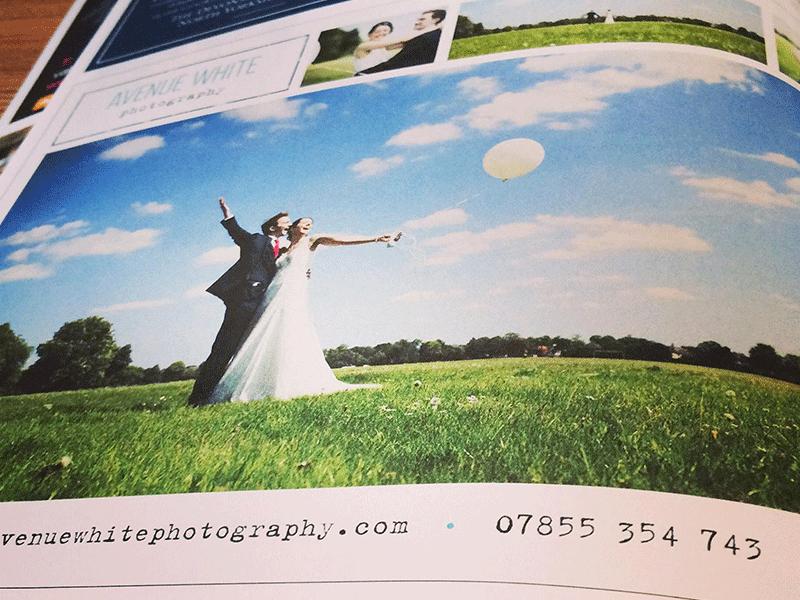 Photo of Avenue White Photography magazine advert design.