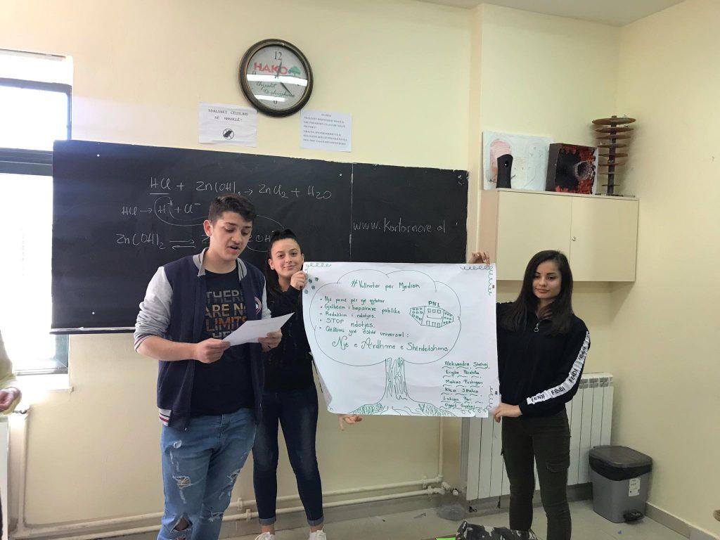 """Aktiviteti """"Aktivizëm dhe Vullnetarizëm   Shkolla Petro Nini Luarasi"""