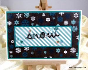 3 D-Karte Snow