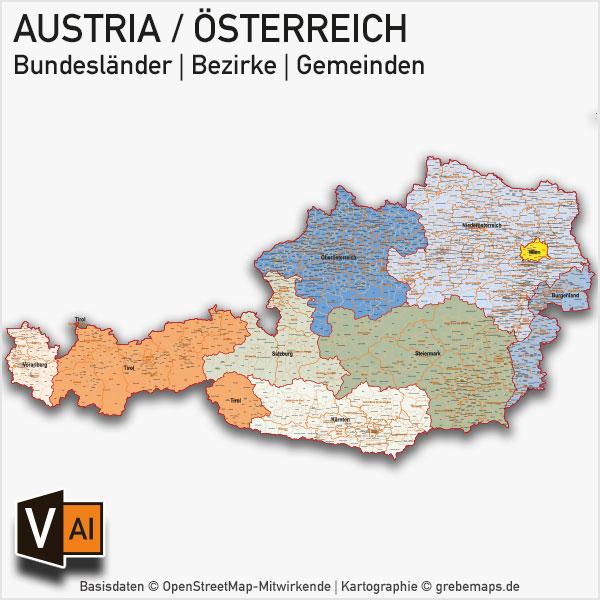 Schw303244bische Alb Karte.Postleitzahlen Karte Osterreich