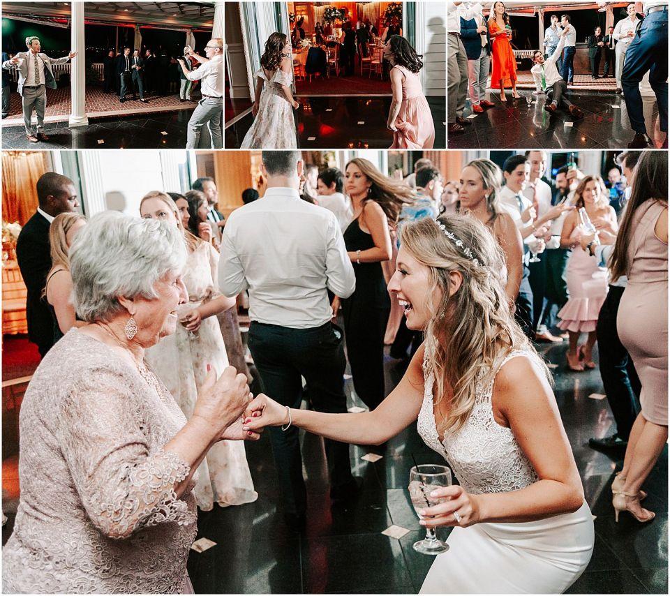Capturing the party dancing at this Mallard Island Yacht Club Wedding