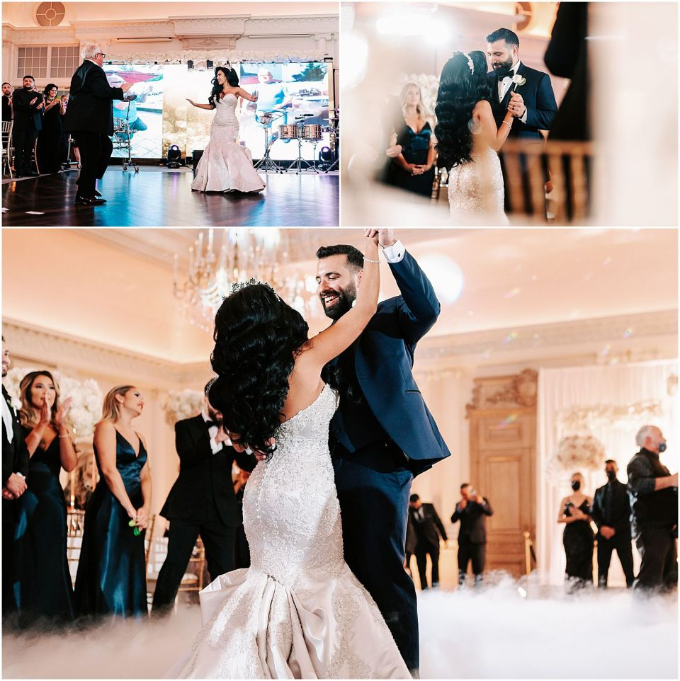 Some moments captured during the formal dances at this Park Chateau Wedding