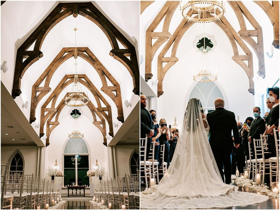 The beautiful chapel for this Park Chateau Wedding