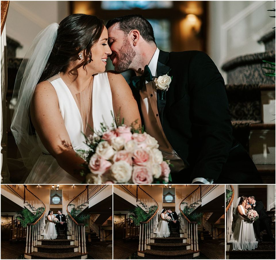 An intimate moment captured at this Olde Mill Inn Wedding