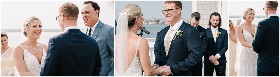 Some cute ceremony moments at this Avalon Yacht Club Wedding