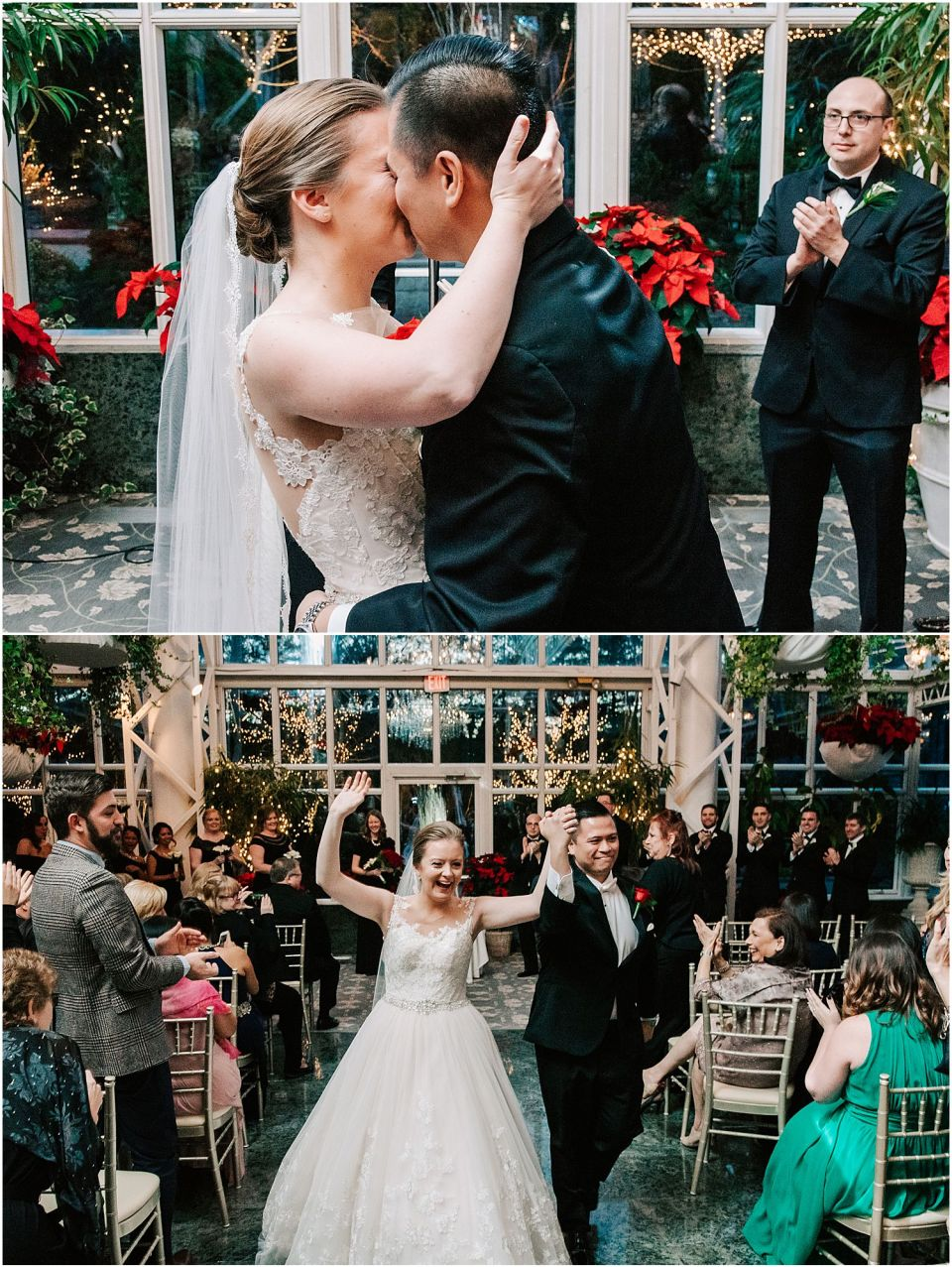 First kiss at the Madison Hotel wedding venue