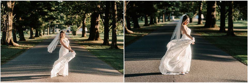 Some fun bridal portraits before the ceremony