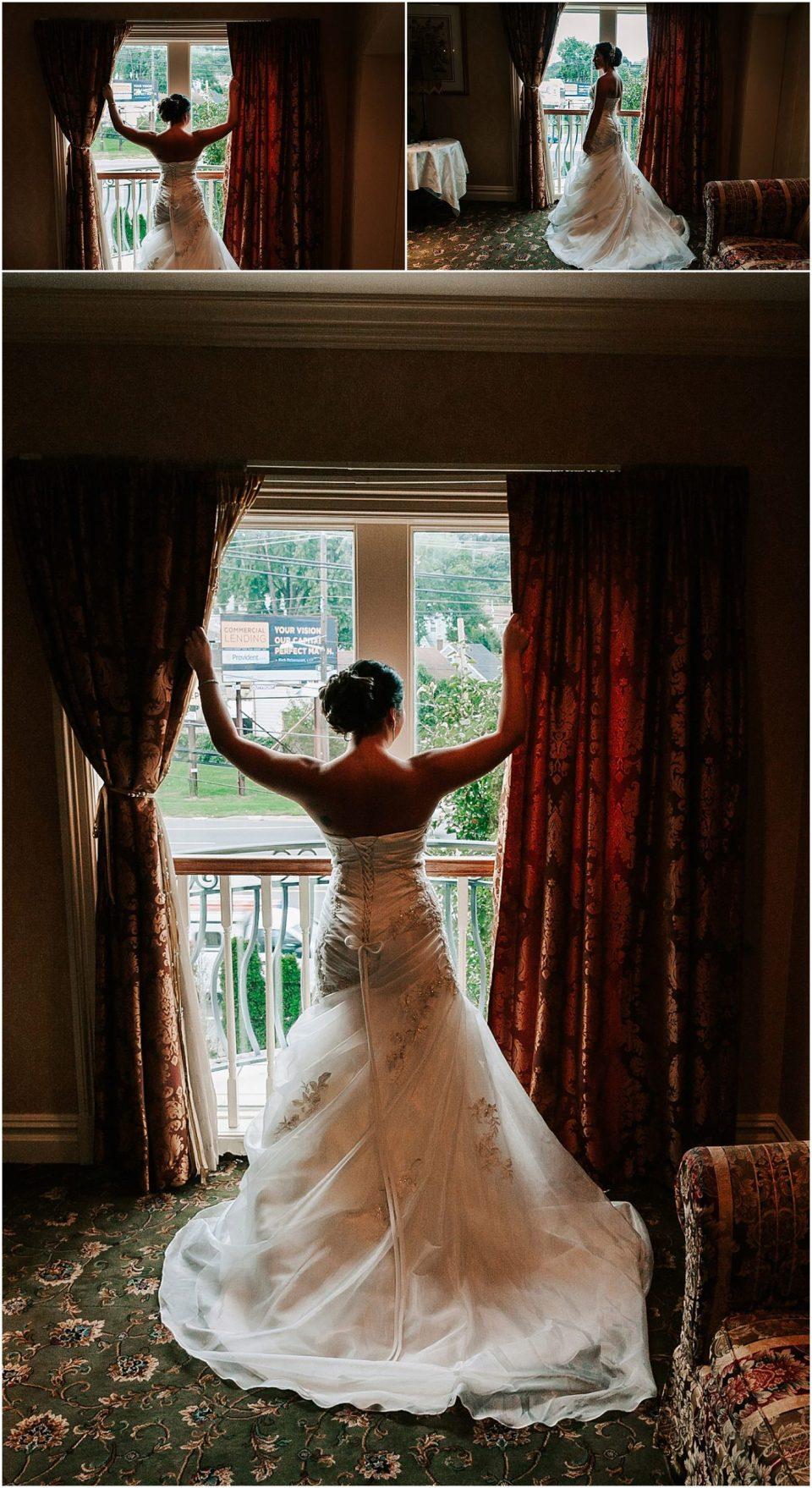 Bridal portraits at this Il Villagio wedding venue