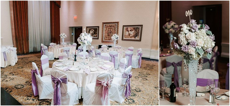 Reception details captured at this Il Villagio wedding venue