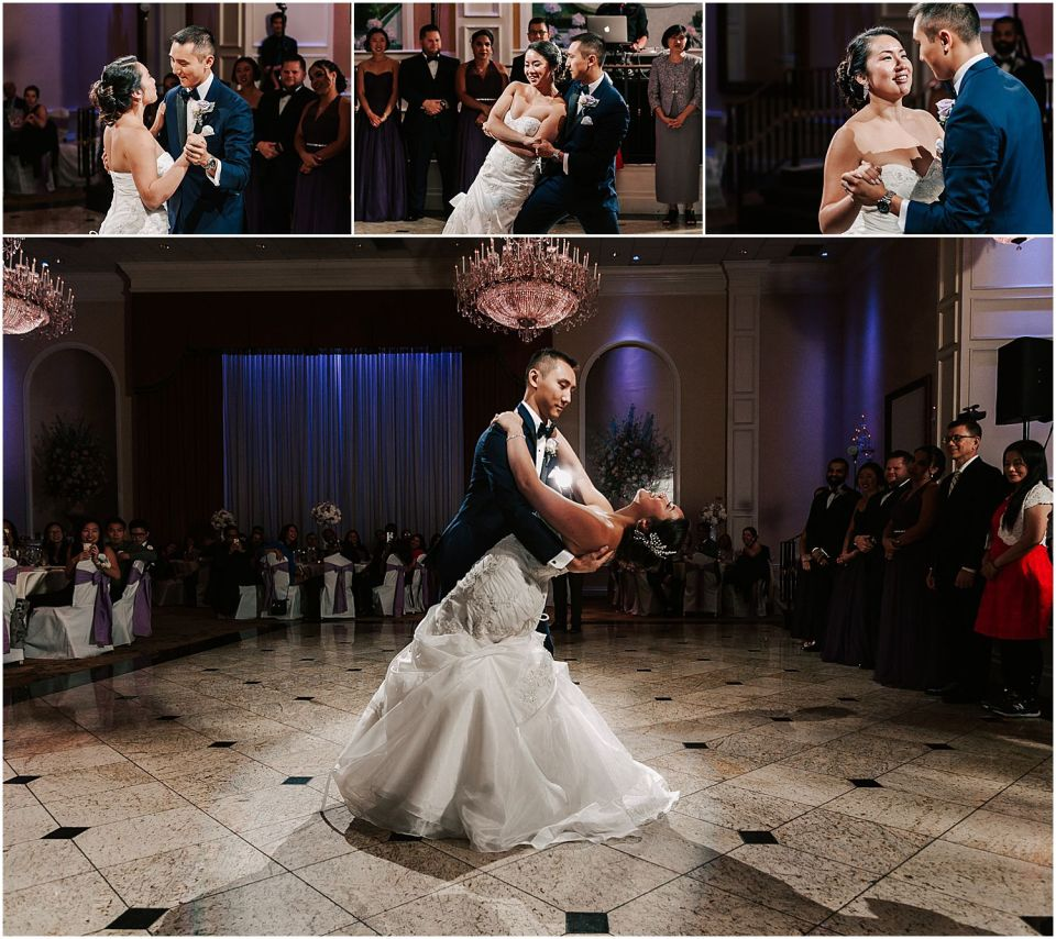 First dance at this Il Villagio wedding venue