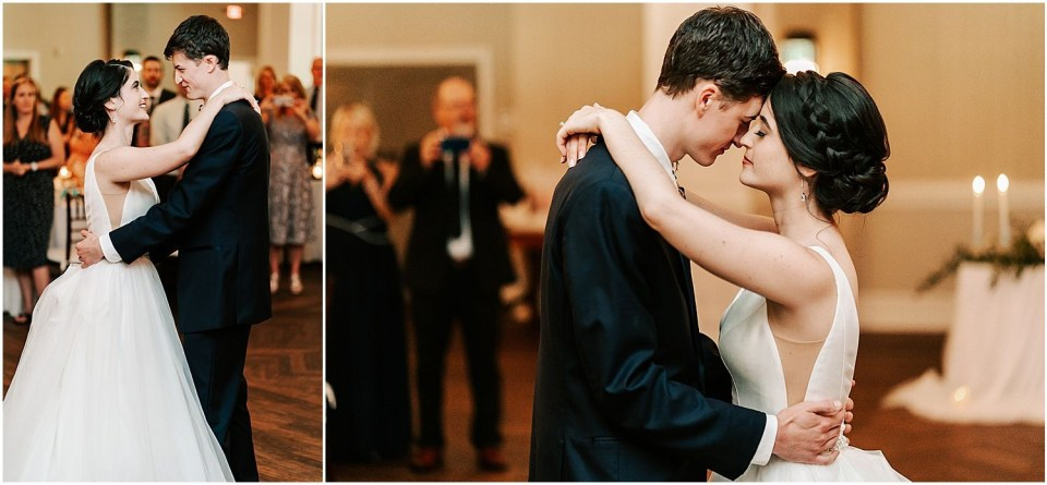 Couple's first dance at the Grove at Centerton Wedding venue