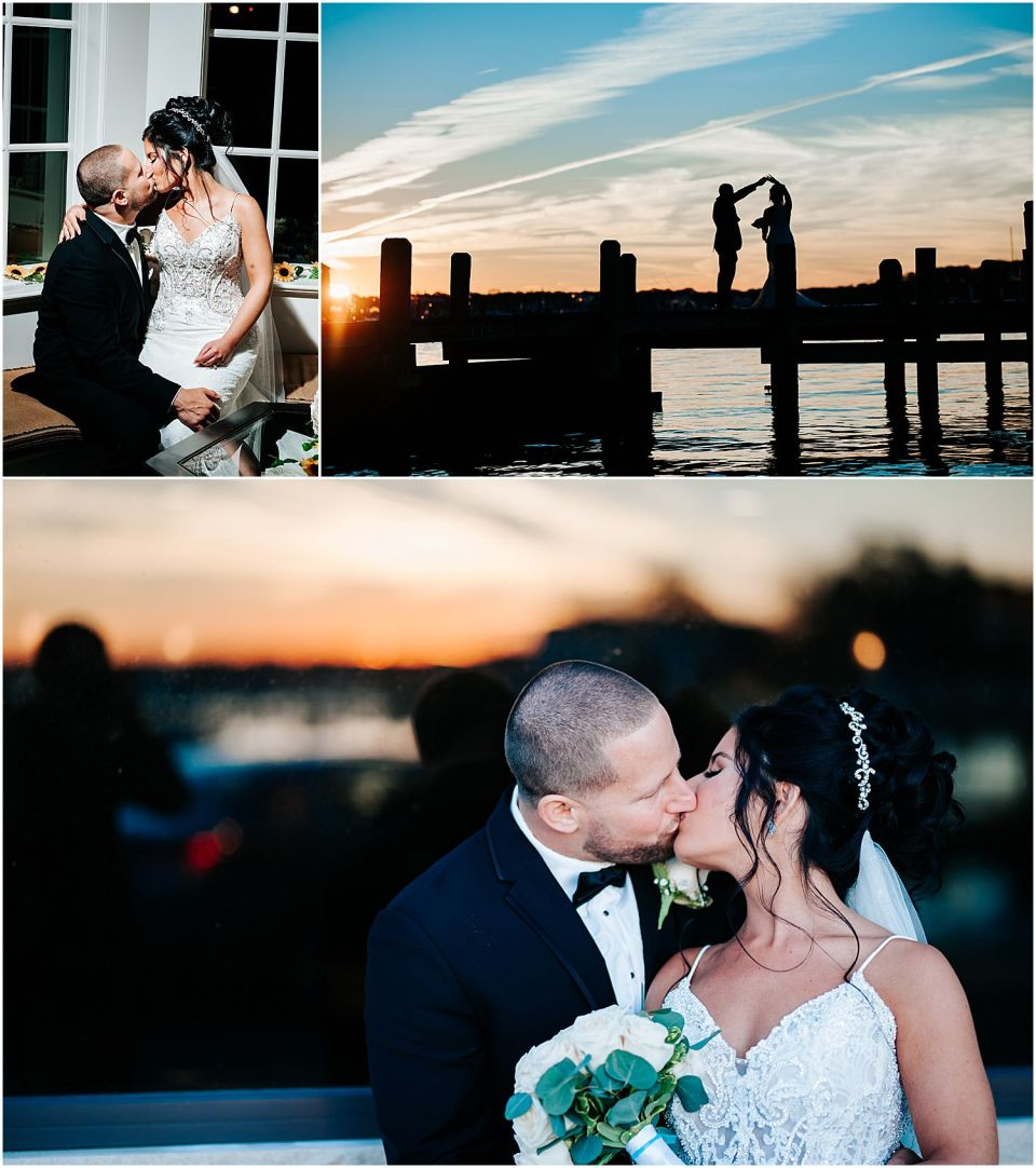 Couples Portraits at this Clarks Landing Yacht Club wedding