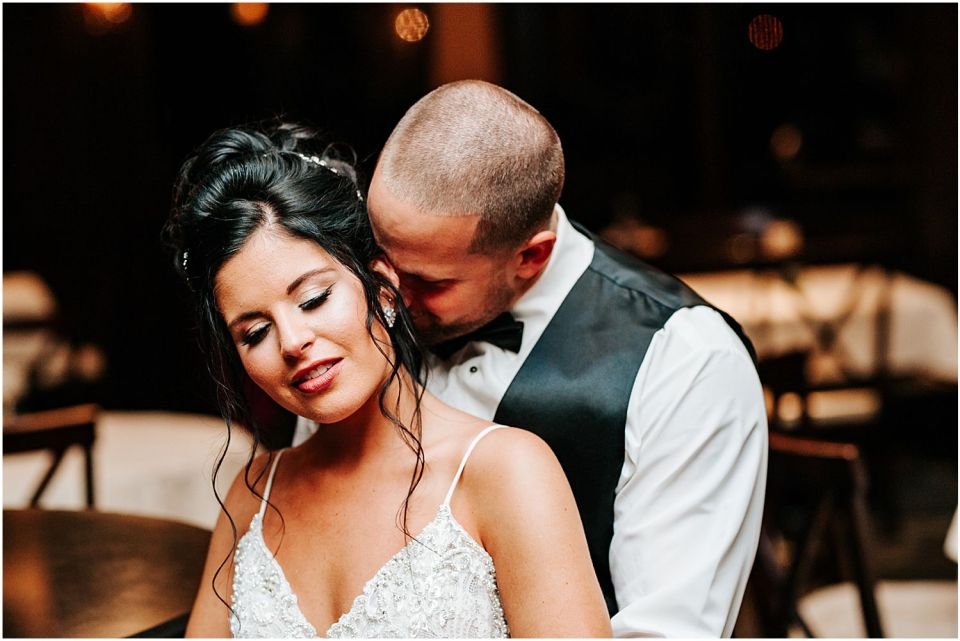 Intimate moments captured at this Clarks Landing Yacht Club wedding