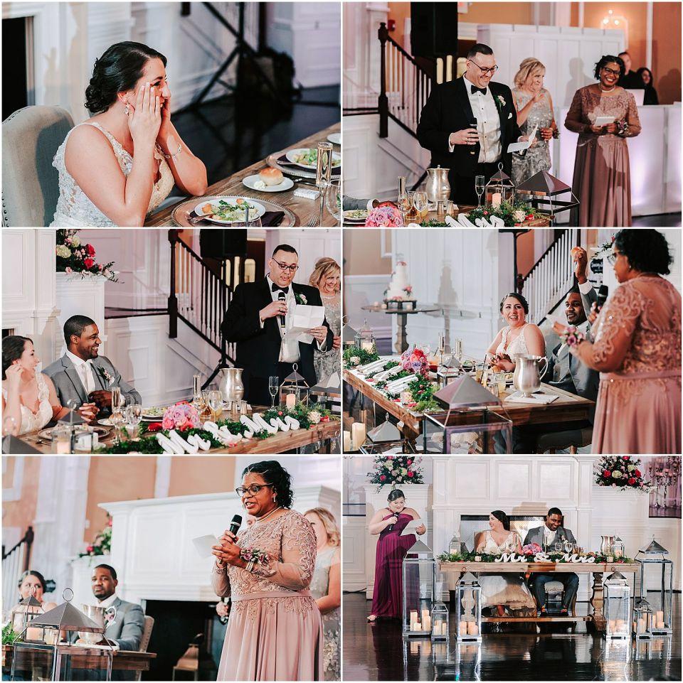 Beautiful speeches during the Hamilton Manor wedding reception