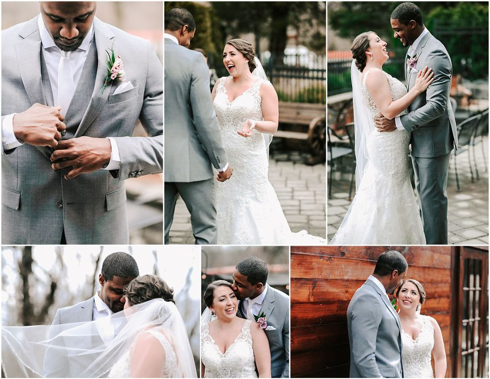 Capturing the some intimate moments during the first look at this Hamilton ManorWedding