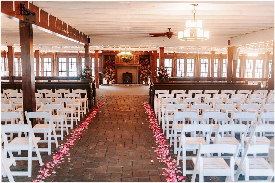Ceremony details at this Hamilton Manor Wedding venue