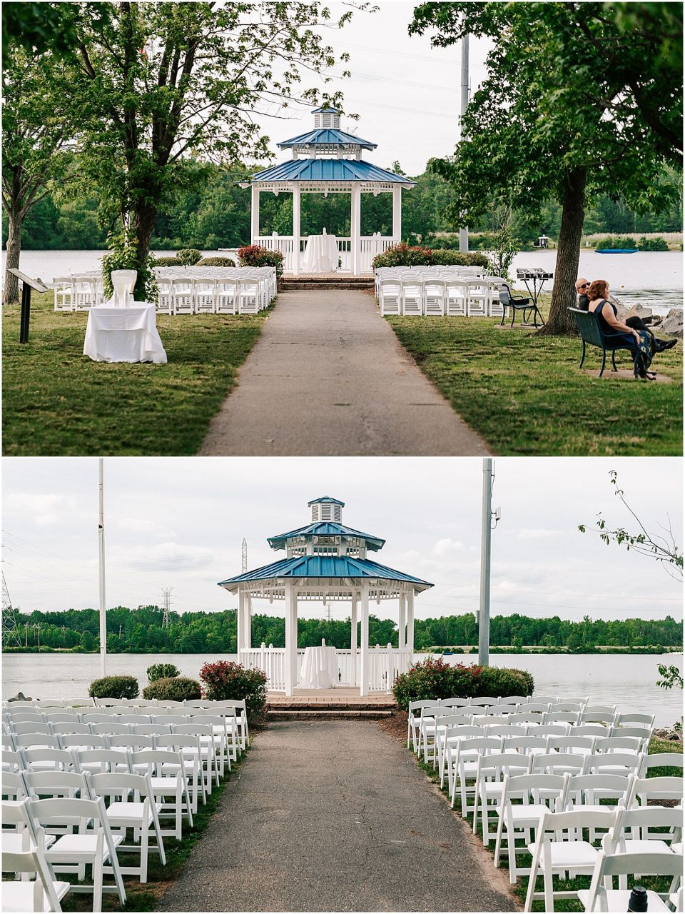 Ceremony Details at The Boathouse at Mercer Lake Wedding