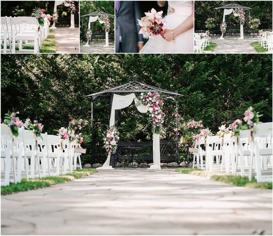 Ceremony Details at the English Manor wedding venue
