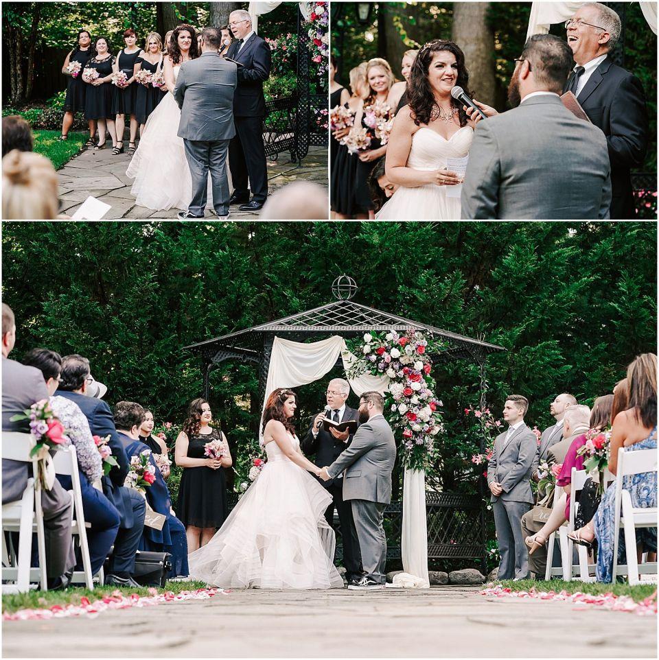 Wedding ceremony at the English Manor wedding venue
