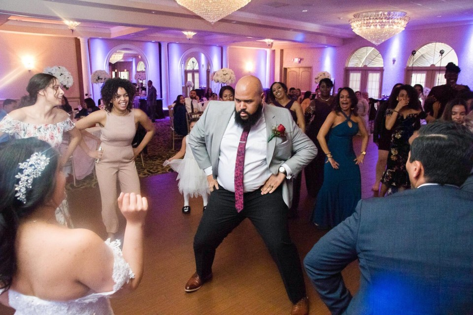 Reception Dancing at the Versailles Ballroom Wedding venue