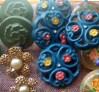 """bottoni colorati blu e misti-""""La Camelia Collezioni"""""""
