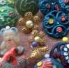 """bottoni misti fiore oro e orsacchiotto-""""La Camelia Collezioni"""""""