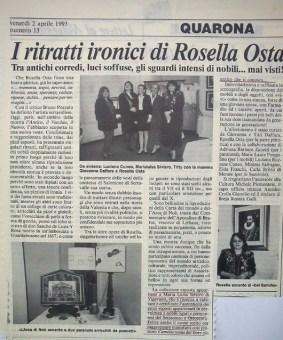 Quarona 1993 - articolo mostra corredi