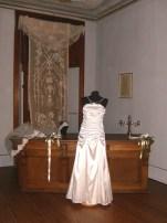 Vestito da cerimonia bianco drappeggiato