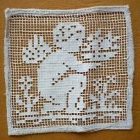 """inserto micro filet meccanico cm 10x10 - """"La Camelia Collezioni"""""""