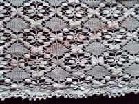 merletto-trina cm 330x30, tombolo + lav. ad ago fine 800