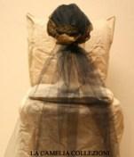 cappello fine 800 colore bluette con velo - collezione - la camelia collezioni