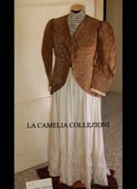 vestito da giorno giacchina in taffettas fine 1800 - moda femminile 1800 - la camelia collezioni