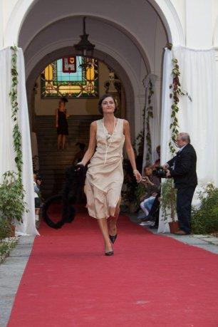 vestito anni 20 30 charleston beige con accessori - la camelia collezioni