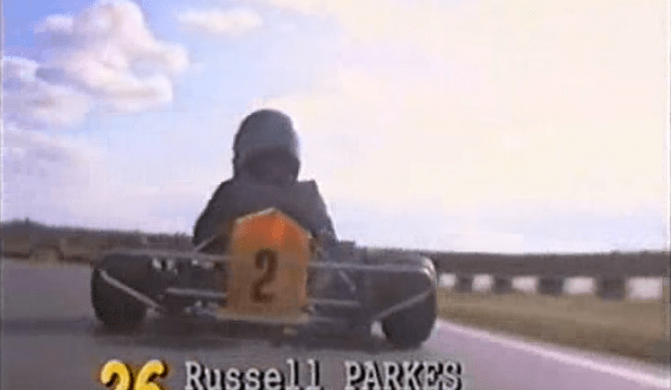 Lewis Hamilton at the future champions race in 1996