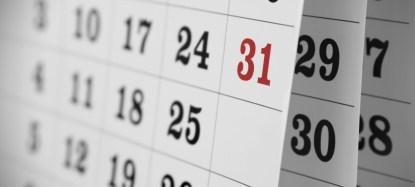 2016 race calendar