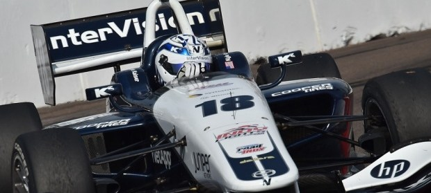 Double Podiums for Kyle Kaiser at Indy Lights Season Opener in St. Petersburg