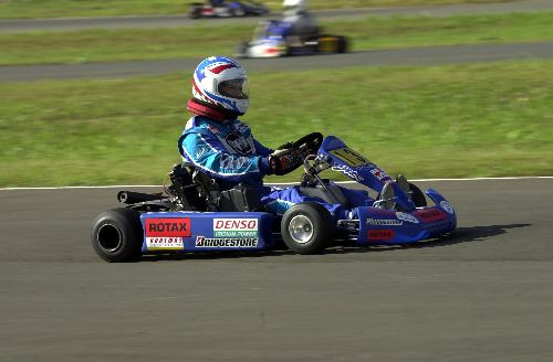 Robert Bedard racing in karts 2