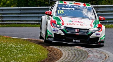 Leading at Nordschleife, Tiago Monteiro suffers big accident