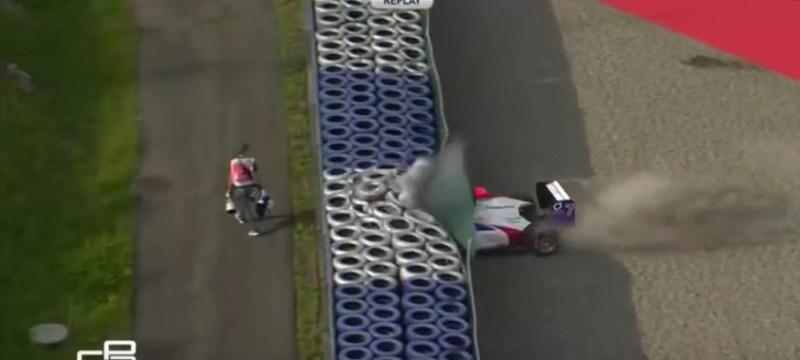 Juliano Alesi big crash at the Redbull ring 2016