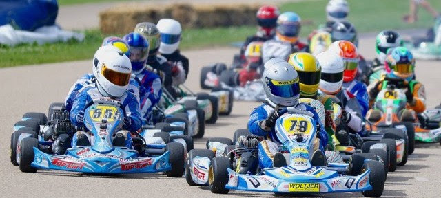 Top Kart drivers led the pack in Shawano (Photo Kathy Churchill)