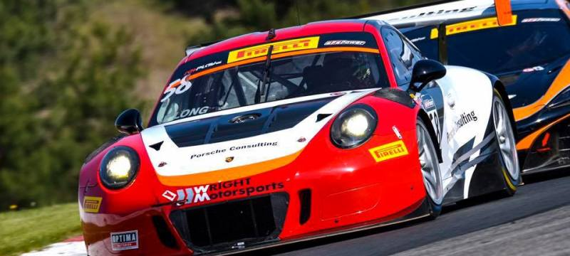 Wright Motorsports' Drivers are in the Thick of the Action In Porsche GT3 Cup Season Opener at Sebring