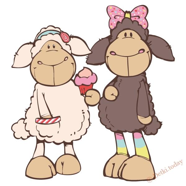 Рисунки овцы прикольные
