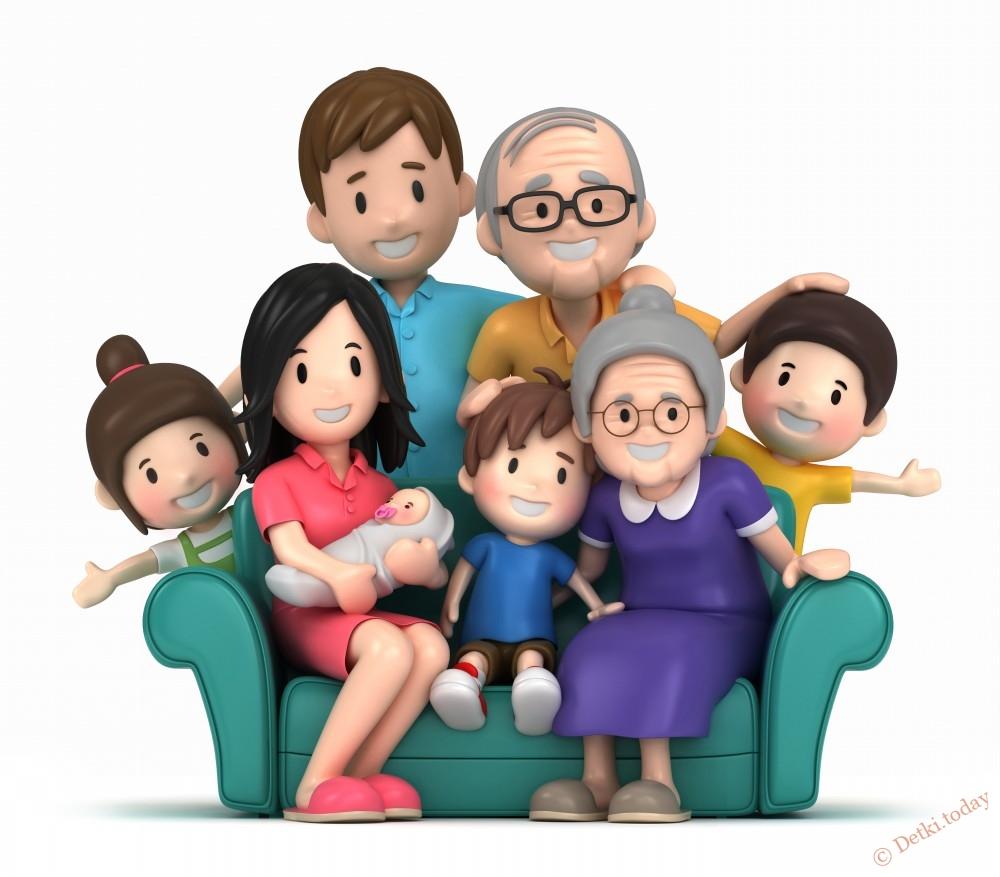 Бабушке день, картинки для детей семья все по отдельности