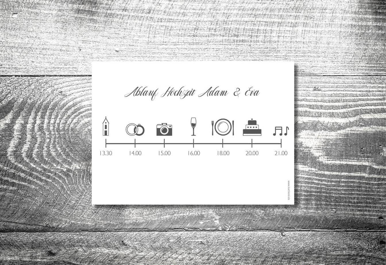 TimelineAblaufplan Hochzeit  Hochzeits Icons  kartlerei