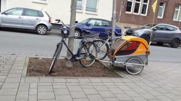 bici con carrito nino