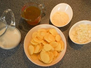 Zutaten für Gratin Kartoffeln