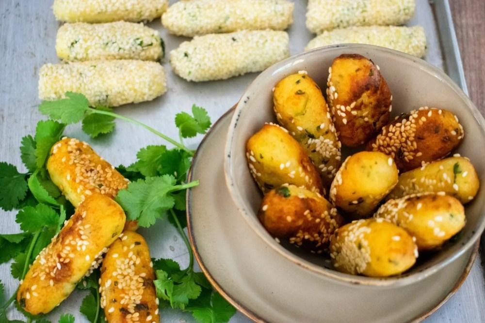 Kartoffel-Koriander-Kroketten